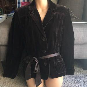 Apt.9 brown velvet jacket